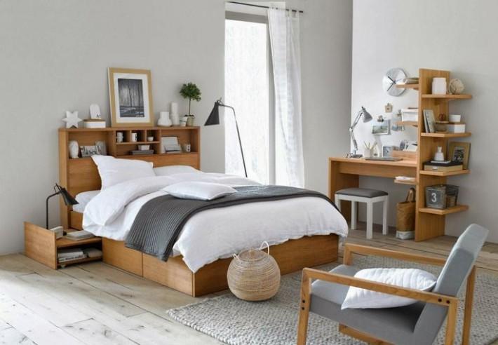 北欧インテリア寝室