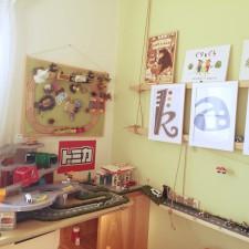 子供部屋のトミカコーナー