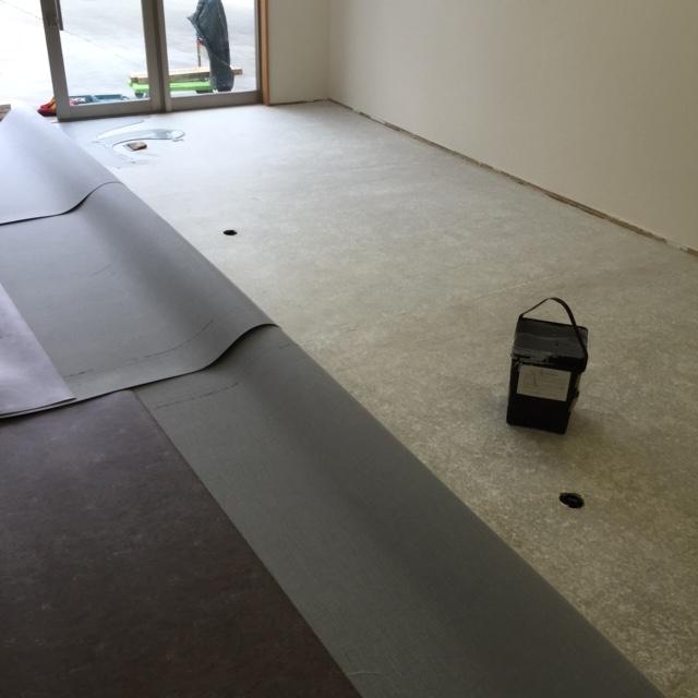 長尺シート施工準備