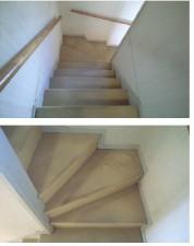 階段 カーペット張替え施工前