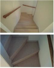 階段 カーペット張替え施工後